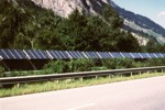 A13 noise barrier, Switzerland, credit pvresources